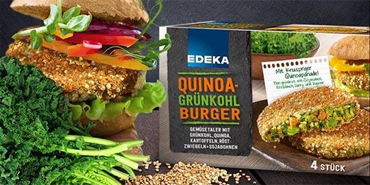 Jetzt neu: Quinoa-Grünkohlburger
